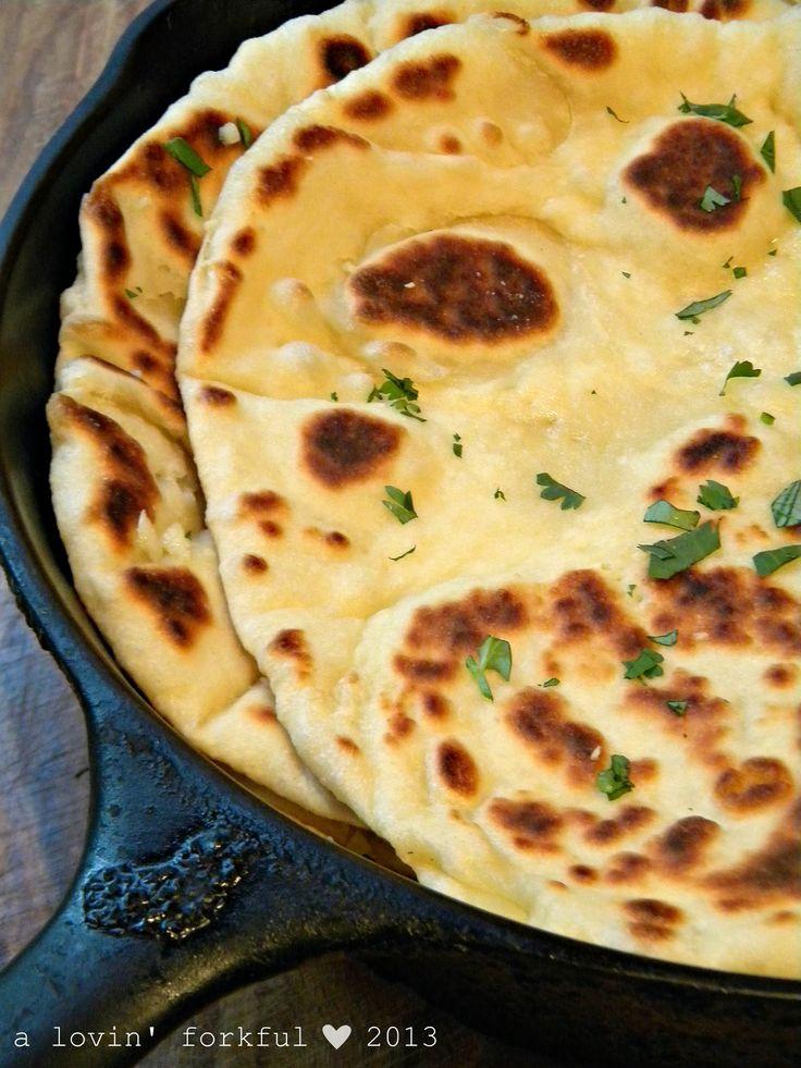 Garlic-Butter Naan recipe - Foodista.com #bread #indian_bread #flatbread