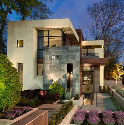 Las 25 mejores ideas sobre planos de vivienda estrecha en - Distribuciones de casas modernas ...