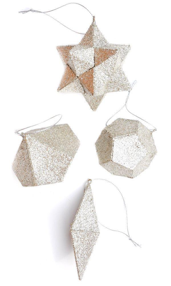 Glittered Geometry Ornament