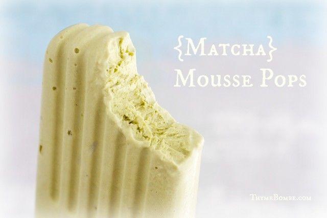 Matcha Green Tea + Greek Yogurt Pops