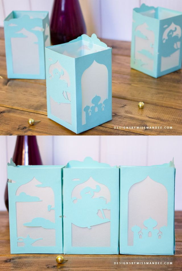 FREE Aladdin Paper Lantern - Designs By Miss Mandee. These are the perfect craft for any Disney lover! And I think they would make such unique and beautiful centerpieces at a wedding. Download the printable pdf and SVG cut file for free!
