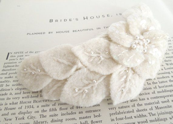 Upcycled Felted Flower Haircomb by MeganHamilton on Etsy, $98.50