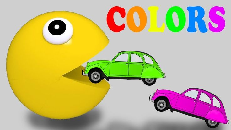 Learning Colors with Pacman Cars for Children Toddlers | Colors Learning...