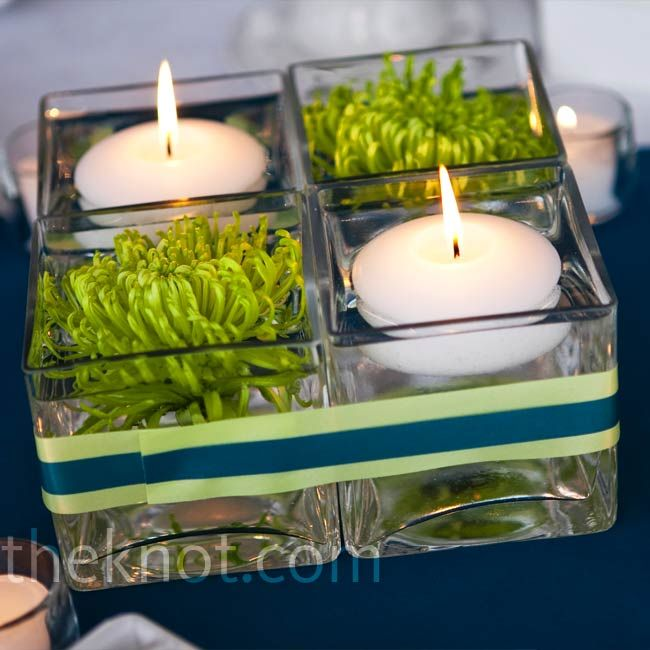 Easy Floating Candle Centerpieces: 24 Best Images About Square Vases On Pinterest