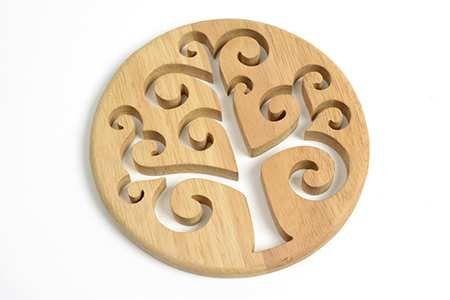 Altromercato - Sottopentola Albero della Vita in legno