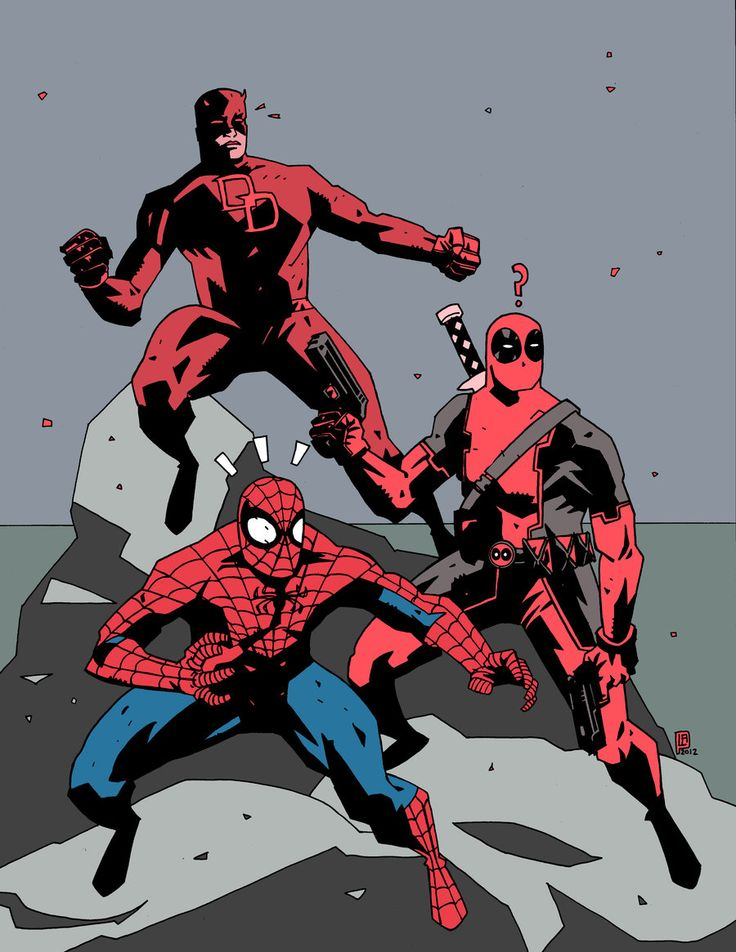 Marvel+Red+Team | Marvel: Red Team // artwork by Luke Parker (2012)Featuring Deadpool ...