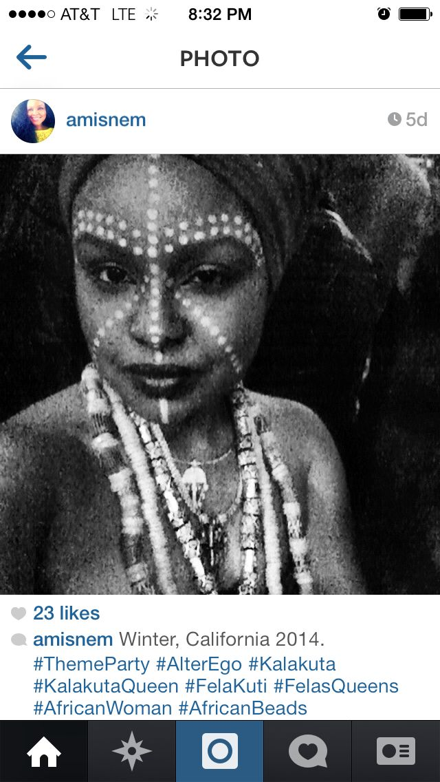African face paint