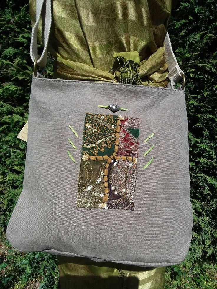 € 39,00 Borsa a tracolla donna, etnica, di cotone con tracolla regolabile di corda, decorazione indiana, regalo originale di GraffitiTamTam su Etsy