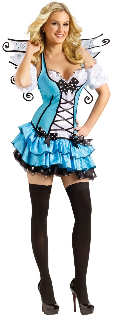 Bluebelle Fairy Costume for Women | Blue Butterfly Halloween Costume: Maybe this one, I can't decide