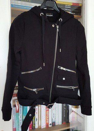 À vendre sur #vintedfrance ! http://www.vinted.fr/mode-femmes/sweats/38454114-sweat-biker-the-kooples-sport
