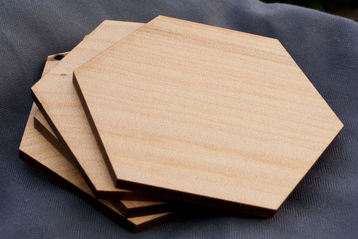 Hexagon reclaimed kauri coasters - $40