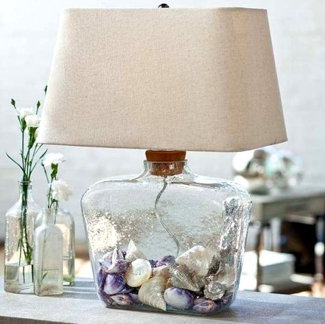 Fillable Glass Lamps - but they cost $100 and up.  Would be nice to display in pretty jars too - and a lot less money