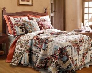 click image above to buy king 3 piece montrose floral patchwork quilt set