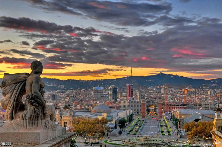 Vista desde el Palacio de Montjuic - Barcelona