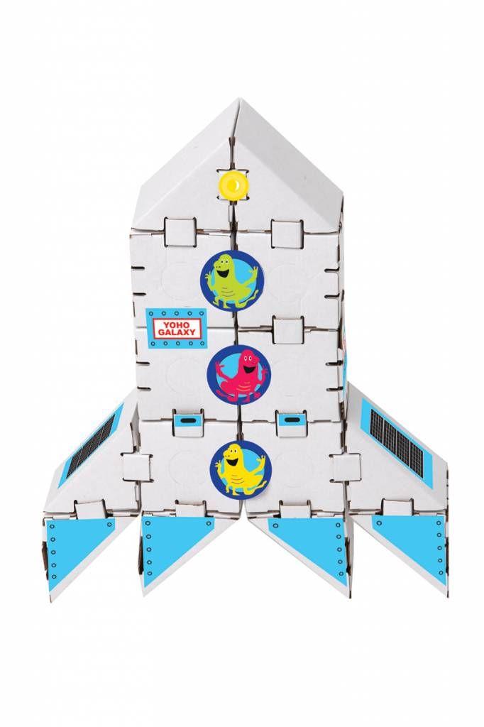 Kartonnen bouwdozen, Mars Raket - DeBouwdoos.be