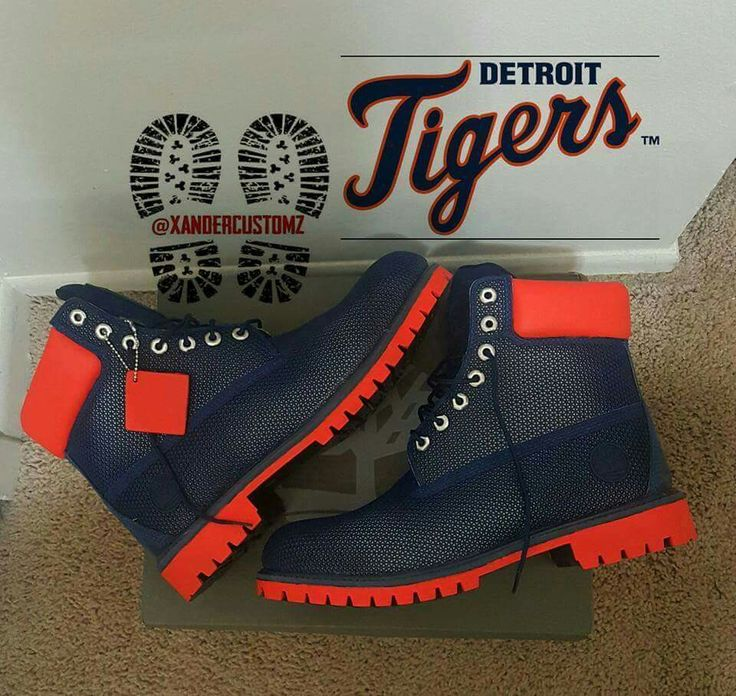 Custom Detroit Tigers Timberland