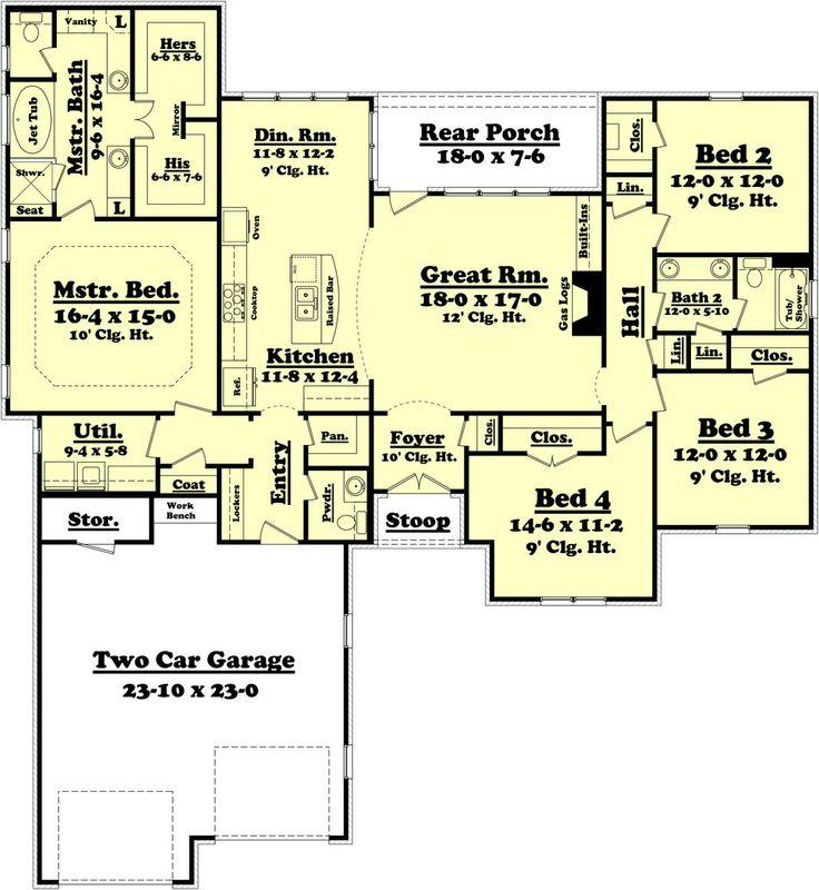 147 Best Images About Floor Plans On Pinterest Craftsman
