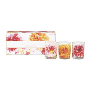 Freshly Cut Flowers Set of 3 Votive Candles