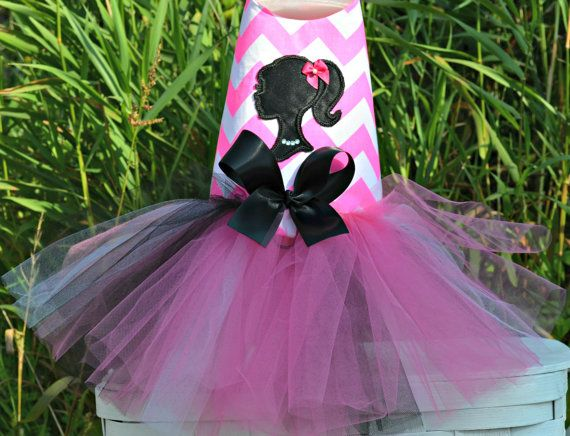 For those who love pop culture? A Barbie Dog Tutu Harness Dress by KOCouture on Etsy