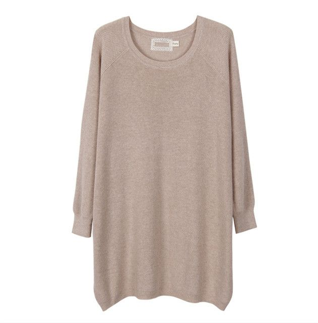 Oversized Sweater Women Unbalanced Sweep 2017 Long Loose Knitted ...
