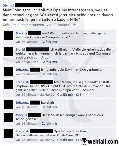 Der Opa-Beschleuniger - Facebook Fail des Tages 08.03.2014 | Webfail - Fail Bilder und Fail Videos