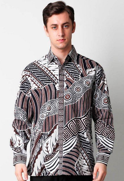 Baju Batik Tulis Pria Modern Lengan Panjang