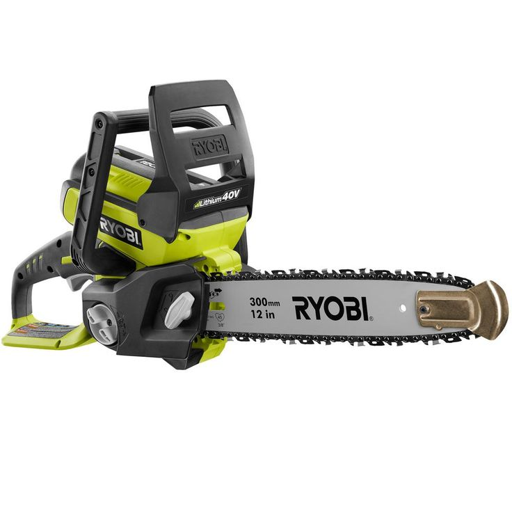 Ryobi Reconditioned 12 in. 40-Volt Lithium-Ion Electric Cordless Chainsaw