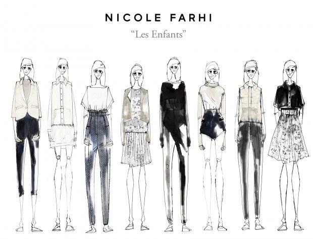 Fashion Portfolio - chic womenswear design, capsule collection lineup for Nicole Farhi project; fashion sketchbook // Laura Smallwood