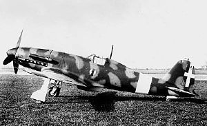 "The Fiat G.55 Centauro (Italian: ""Centaur"") was a single-engine single-seat World War II fighter aircraft used by Italy 1942  wem"