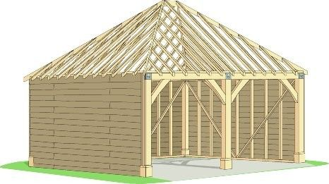 Cabins Unlimited - Beamlock Two Bay Hipped Roof Garage with 40° Roof Pitch, £5,215.00 (http://www.cabinsunlimited.co.uk/two-bay-hipped-roof-garage-with-40-roof-pitch/)