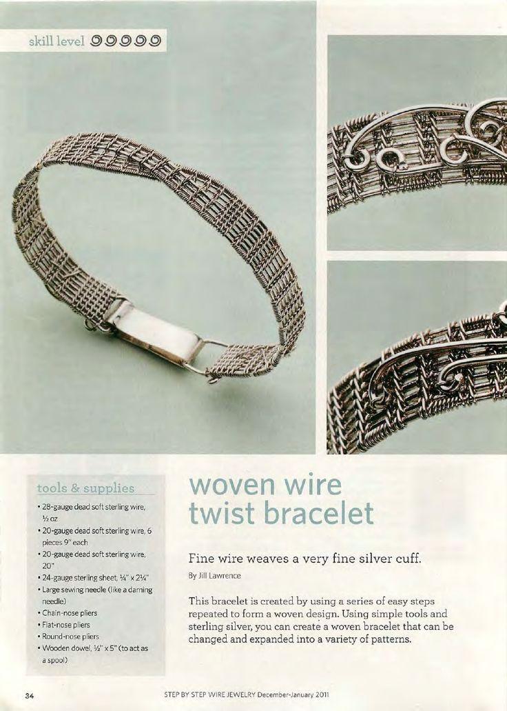 criss-cross woven bracelet