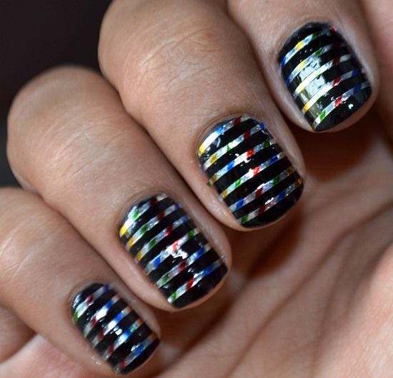 Nail Art Using Striping Tape: 17 Best Ideas About Tape Nail Art On Pinterest