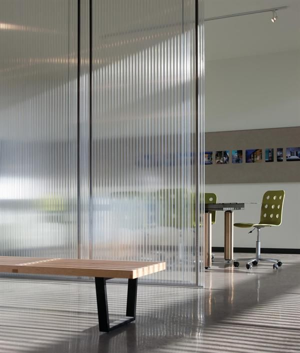 This photo captures the translucence and texture of interior polycarbonate walls!
