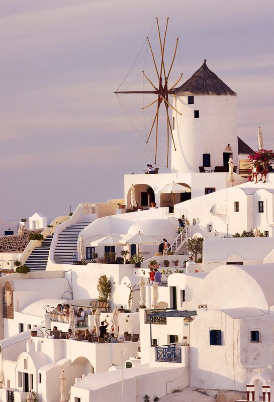 Santorini .. i love this .. such a famous shot of Oia .. we were engaged in the restaurant you see in this picture .. on the upper terrace in the far left corner - the best spot at sunset on may 1st 2012!!