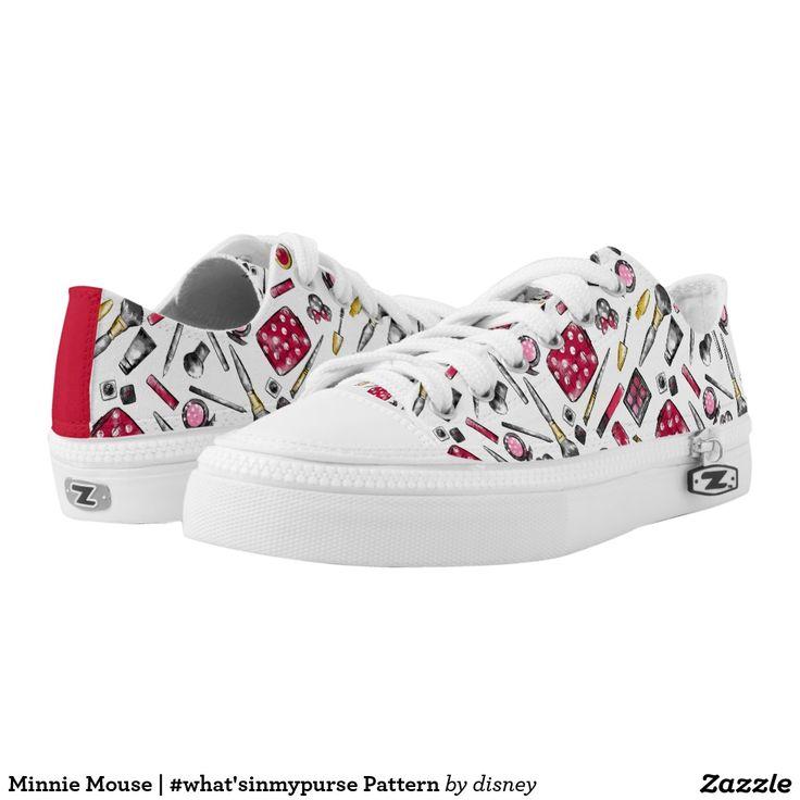 Minnie Mouse | #what'sinmypurse Pattern. Disney. Producto disponible en tienda Zazzle. Calzado, moda. Product available in Zazzle store. Footwear, fashion. Regalos, Gifts. #zapatillas #shoes