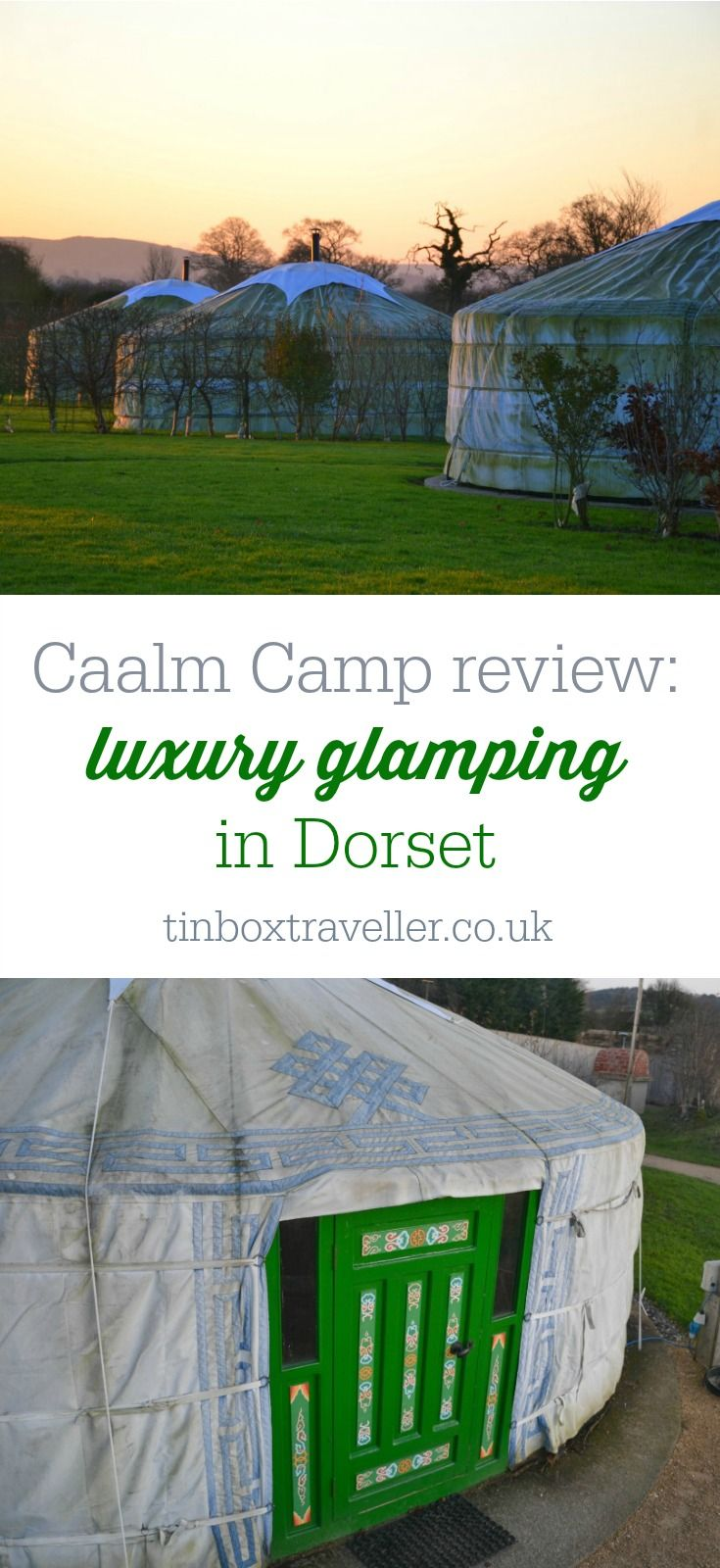 A review of a luxury glamping break with kids at Caalm Camp in Dorset where you can stay in a Mongolian yurt in the rolling countryside of South West England #glamping #camping #travelblog #travel #familytravel #England #Dorset #UKtravel
