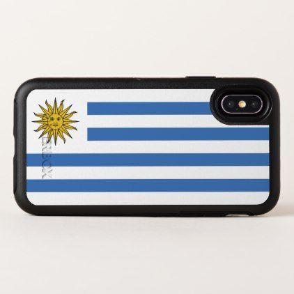 Uruguay Flag OtterBox Symmetry iPhone X Case - white gifts elegant diy gift ideas