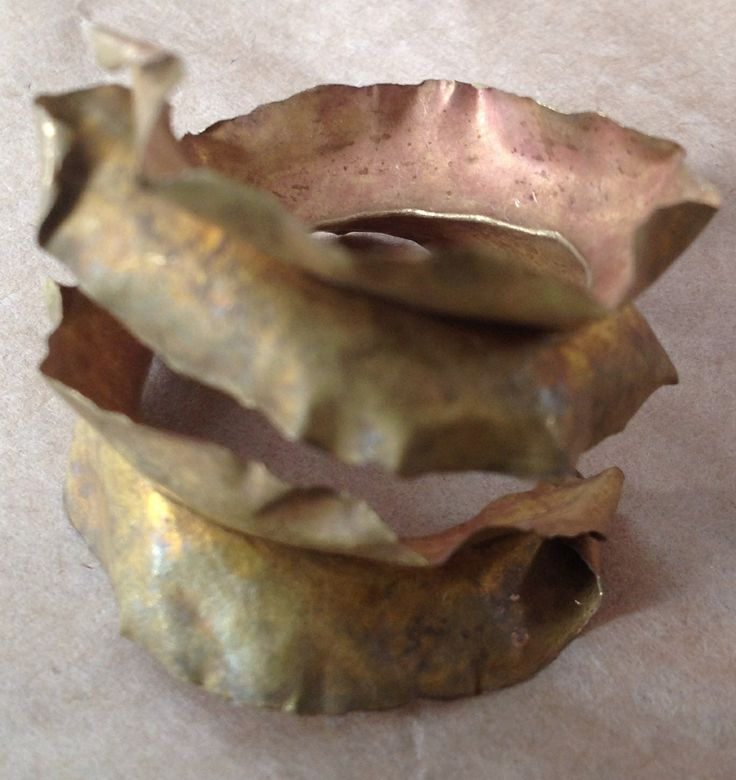 Fold formed copper bead