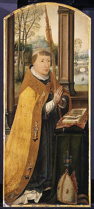 Charles Coguin, Abbot of Anchin by Jean Bellegambe ca. 1509–13