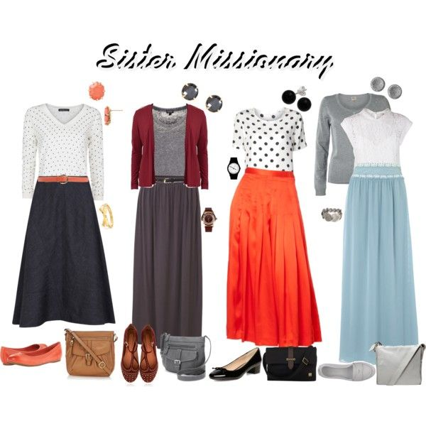 """""""Sister Missionary Style"""" -Polyvore"""