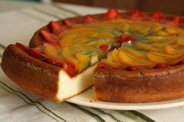 1. Творожное суфле с фруктами