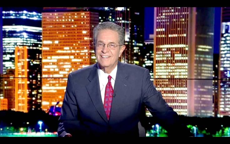 COURTESY OF ABC 7 Legendary Chicago television anchor man Ron Magers signs off for the final time Wednesday night to conclude the 10 p.m. news program.