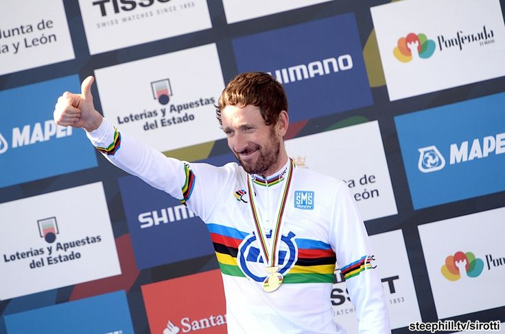 2014 road-cycling-world-championships - An unusually big smile from Bradley Wiggins (Great Britain) was an indication of what this win meant to him this late in his career