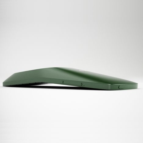 Folded leaf, phone, plastic, matte, tension