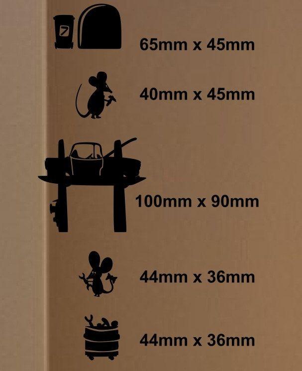 Maus-Mechanik-PKW-Reifen Werkzeuge Mäuse von Stickersshopthree