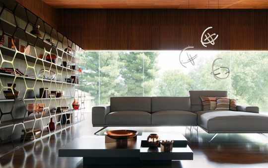 Roche Bobois, pollen-bookcase-sacha-lakic-design-2015-presence-sofa