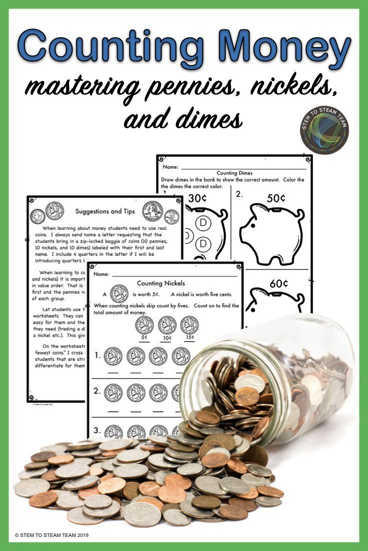 Teaching Money Counting Coins Pennies Nickels And Dimes Teaching Money Counting Money Activities Money Activities