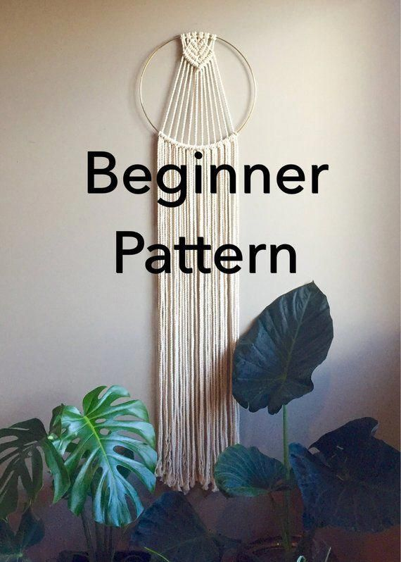 Kalyx Beginner Macramé Dreamcatcher Pattern Wall Hanging Wall Decor Pdf Diy Crafter Makers Tutorial Macrame Wall Hanging Patterns Macrame Patterns Dream Catcher Patterns