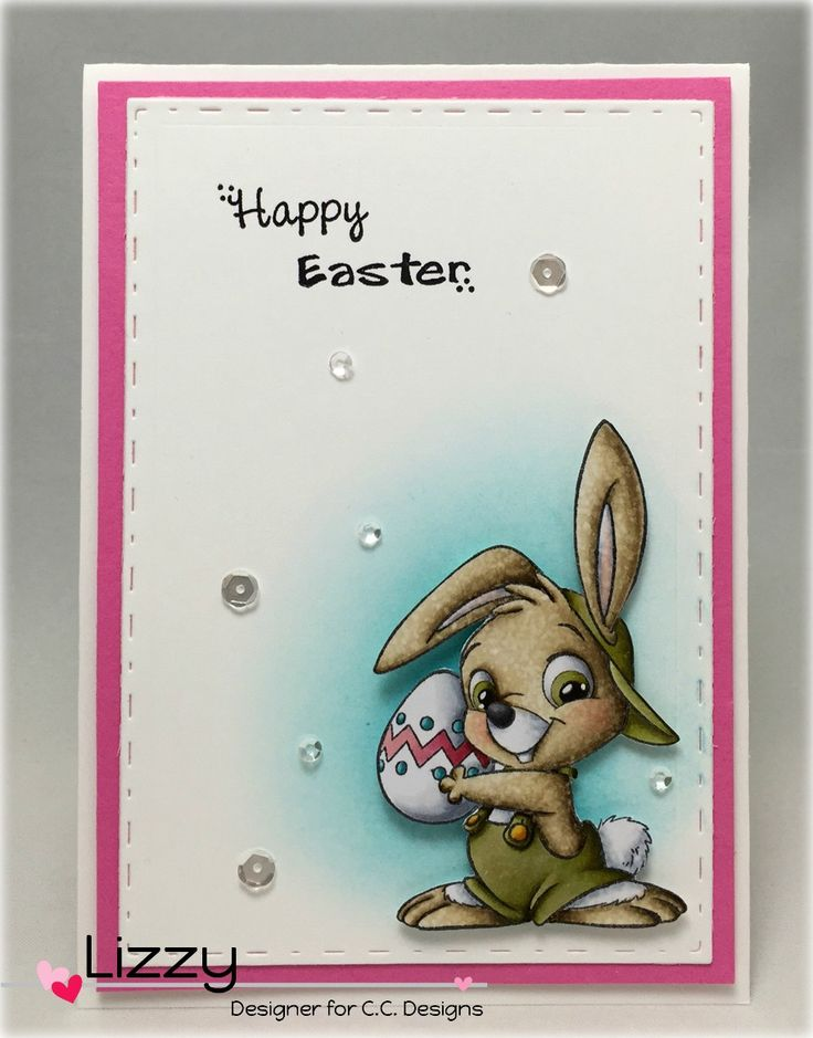 Color Kitty: Easter Funnies, C.C. Designs Rubber Stamps