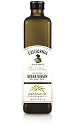 Arbosana Extra Virgin Olive Oil | A complex, nutty oil with flavors of fresh tomato and almonds. Fabulous when baking with chocolate or as a drizzle atop soups or a grilled ribeye steak. Pairs well with chocolate almond tore, and almond biscotti. | California Olive Ranch